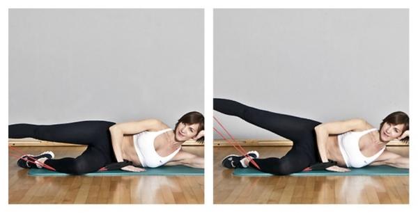 Упражнения для похудения с эспандером