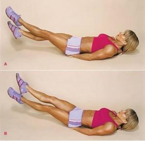как убрать жир между ног упражнения