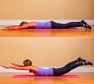 Упражнения на ягодицы при остеохондрозе