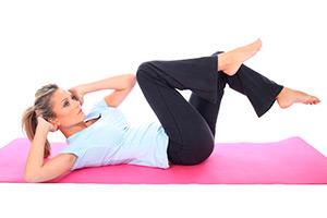 какие упражнение делать дома для похудение живота
