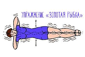 упражнение для похудение низа живота